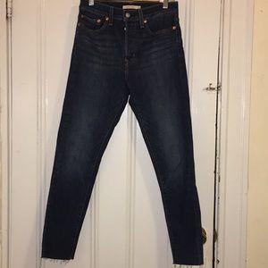 Levi's Wedgie Skinny Jeans, Dark Blue (Size 27)